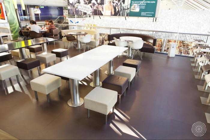 kleuren de interior design afdeling van mcdonalds europe bev