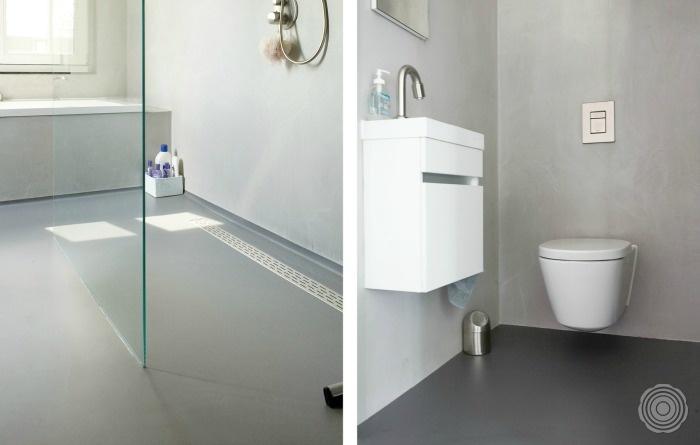 Gietvloer badkamer sensovloeren belgi - Badkamer vloer ...