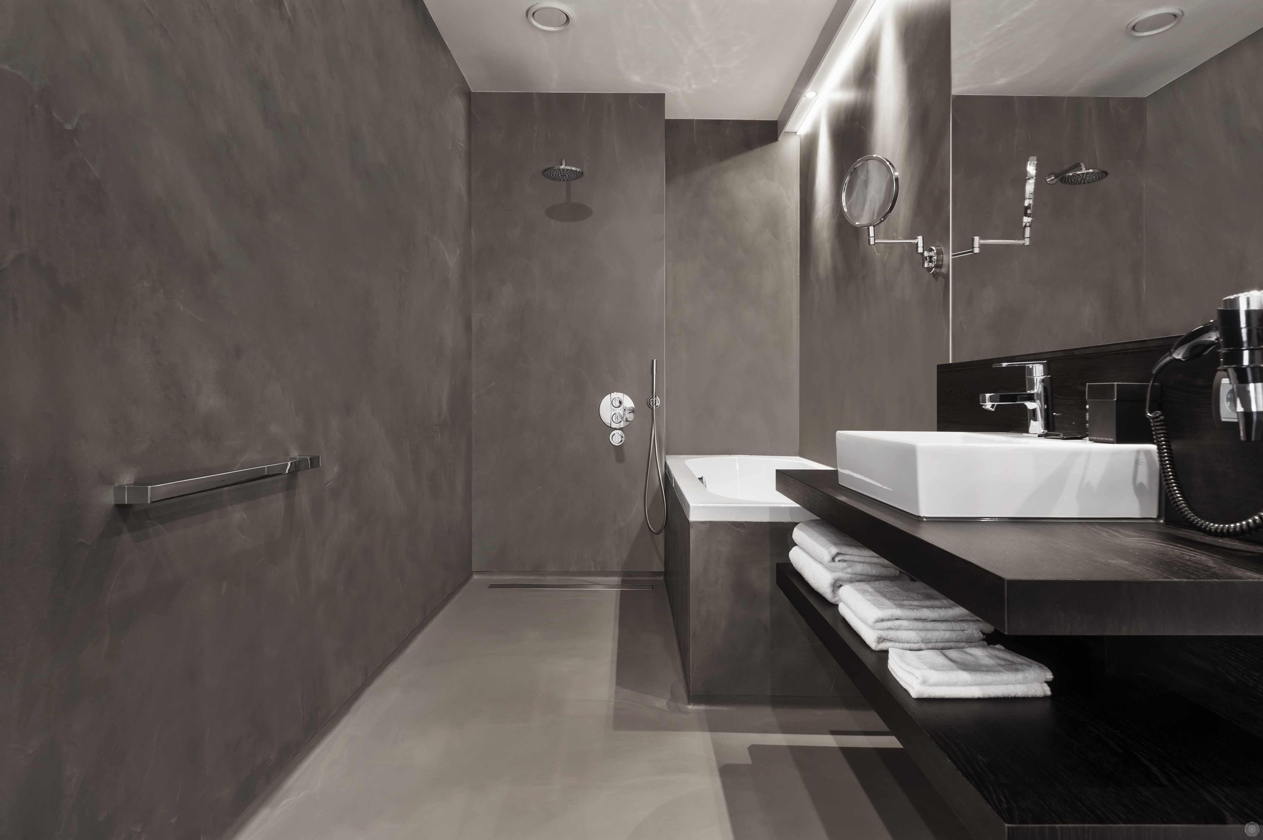 Badkamer Zonder Toilet : Naadloze wanden zonder tegels senso gietvloeren