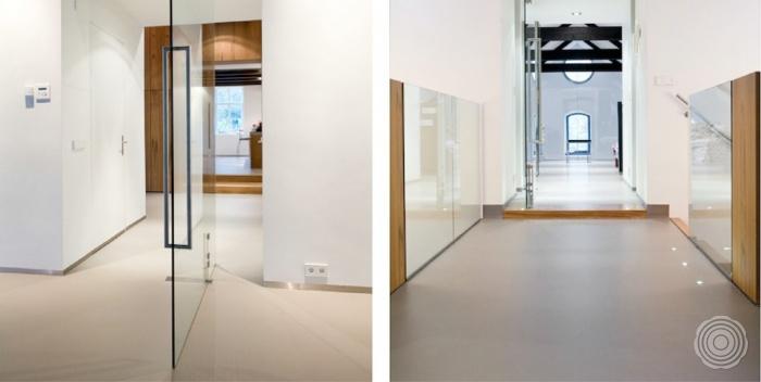 Badkamer Landelijk Strak ~ Gietvloer Woonkamer Kosten Moderne badkamer met witte gietvloer